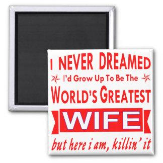 Imán Nunca soñado sería la esposa más grande del mundo