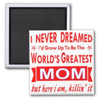 Imán Nunca soñado sería la mamá más grande del mundo