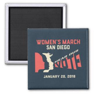 Imán oficial de marzo San Diego marzo de las