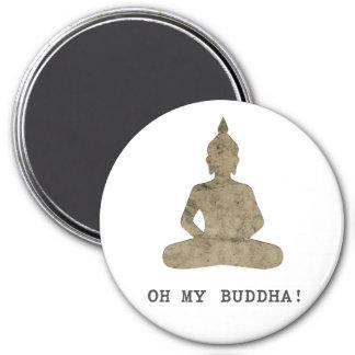 Imán OMB oh mi silueta divertida de Buda