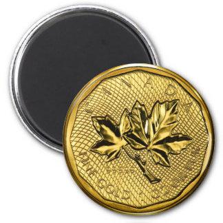 Imán Oro de la hoja de arce 1oz de Canadá