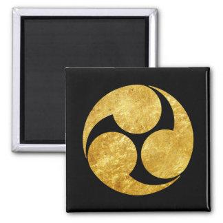 Imán Oro del clan japonés de Kobayakawa lunes falso en