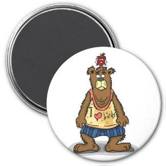 Imán Oso de Brown del dibujo animado que se coloca en