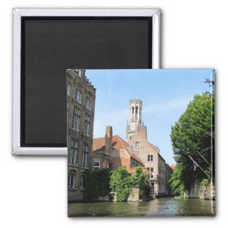 Imán Paisaje con el canal del agua en Brujas, Bélgica