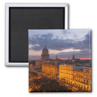 Imán Paisaje urbano en la puesta del sol, La Habana,