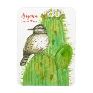 Imán Pájaro de estado del Wren de cactus de Arizona