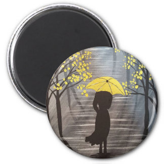 Imán Paraguas amarillo