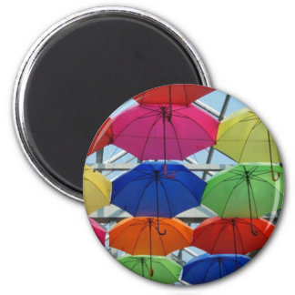 Imán paraguas colorido