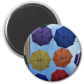 Imán Paraguas coloridos