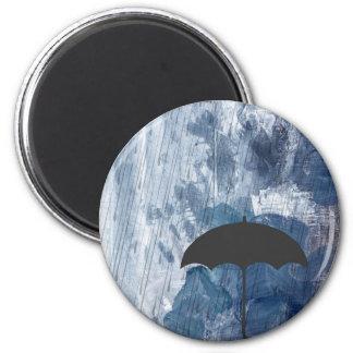 Imán Paraguas en ducha azul