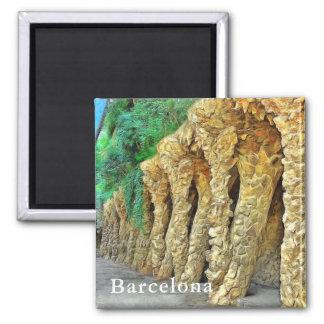 Imán Parque Güell. Columnas de Gaudi.