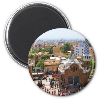 Imán Parque Guell en Barcelona, España
