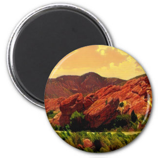 Imán Parque rojo Denver Colorado de las rocas