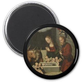 Imán Pastores que adoran al bebé Jesús por Cranach