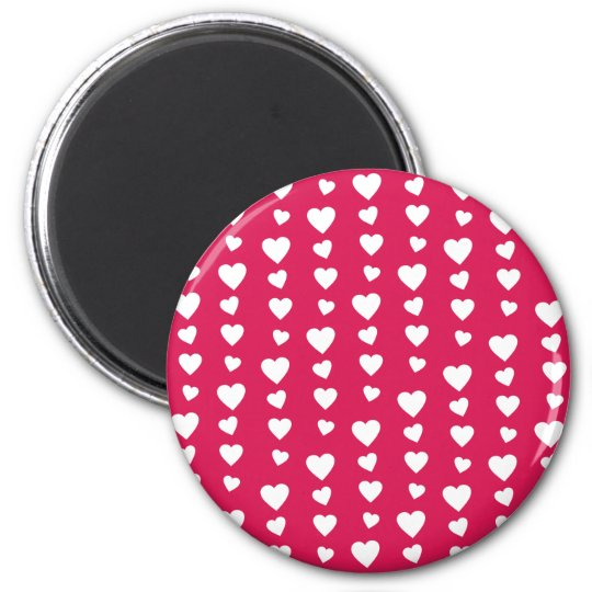 Imán Patrón Corazones blancos del día de San Valentín