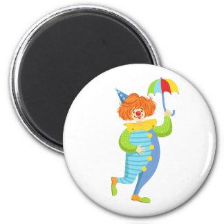 Imán Payaso amistoso colorido con el mini paraguas