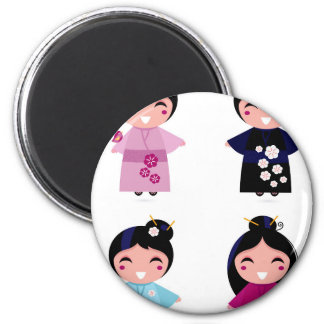 Imán Pequeños geishas lindos de los niños