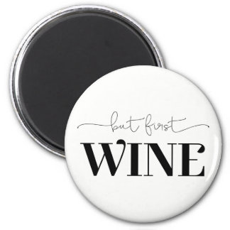 Imán Pero color de fondo de encargo del primer vino