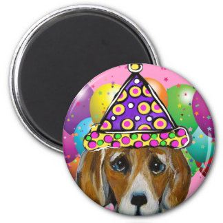 Imán Perro del fiesta del beagle