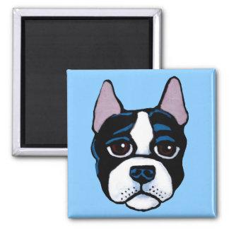 Imán Perro lindo, perrito de Boston bull terrier