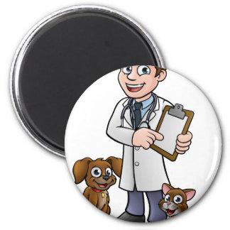 Imán Personaje de dibujos animados del veterinario que