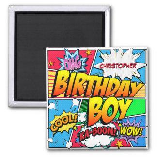 Imán Personalizado de la fiesta de cumpleaños del cómic