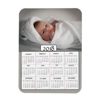 Imán personalizado del calendario de la foto 2018