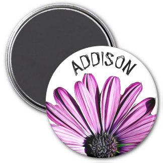 Imán personalizado nombre púrpura bonito de la
