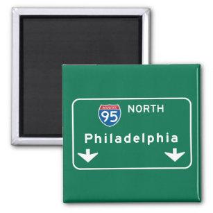 Imán Philadelphia, señal de tráfico del PA