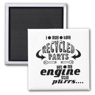 Imán Piezas recicladas pero mis ronroneos del motor