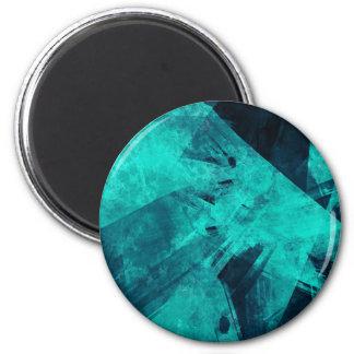 Imán Pintura Azul-Negra