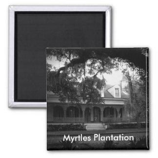 Imán Plantación de los mirtos en blanco y negro
