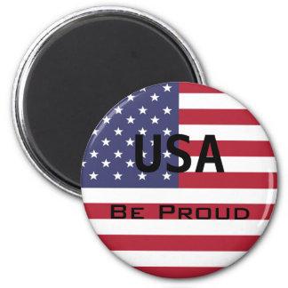 Imán Plantilla de la bandera americana