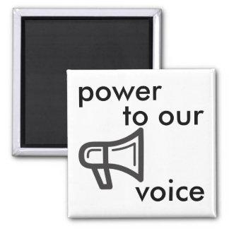 Imán poder a nuestra voz