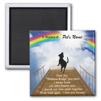 Imán Poema conmemorativo del puente del arco iris para