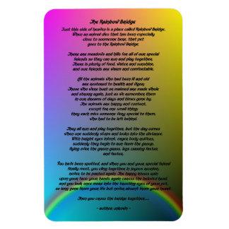 Imán Poema del mascota del puente del arco iris