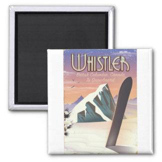 Imán Poster de la snowboard de la Columbia Británica de