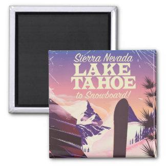 Imán Poster de la snowboard del lago Tahoe Sierra