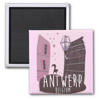 Imán Poster del viaje de Amberes, Bélgica