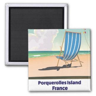 Imán Poster del viaje de Francia de la isla de
