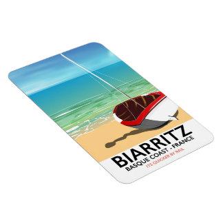 Iman Poster del viaje de la playa de Biarritz Francia