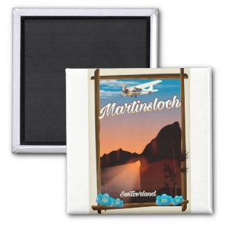 Imán Poster del viaje de Martinsloch Suiza