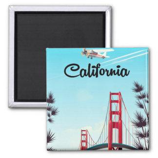 Imán Poster del viaje del dibujo animado de California