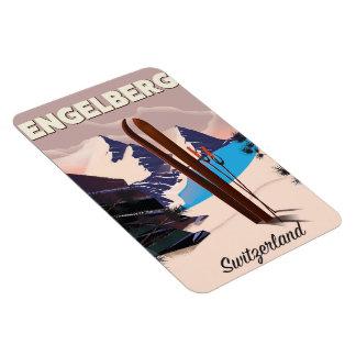 Iman Poster del viaje del esquí de Engelberg Suiza