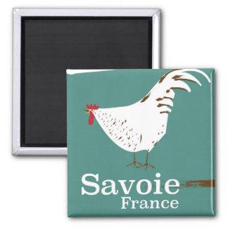 Imán Poster del viaje del pollo de Saboya Francia
