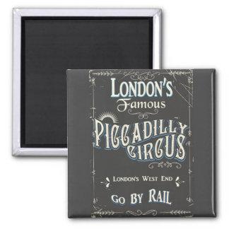 Imán Poster del vintage de Londres del circo de