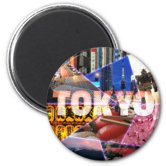 Imán precioso de la ronda de Tokio