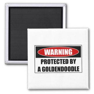 Imán Protegido por un Goldendoodle