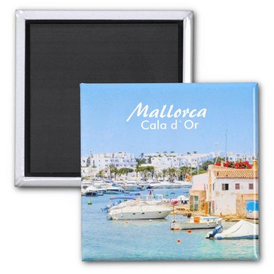 Imán Puerto de Mallorca de ` o de recuerdo de Cala d