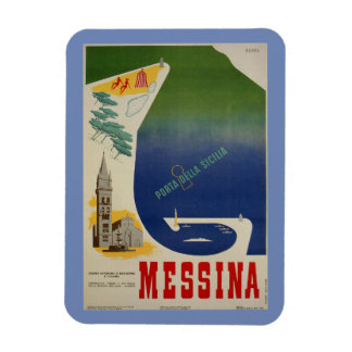 Imán Puerto de Messina de anuncio italiano del viaje